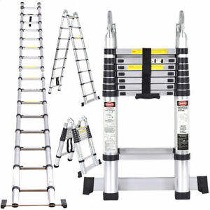 16 5 Ft Aluminium Multi Purpose Foldable Telescopic Ladder Portable Heavy Duty