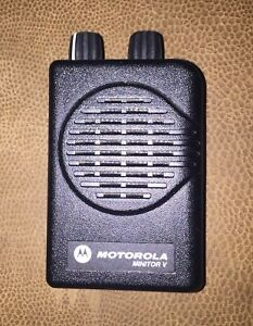 Motorola Minitor V Pager Fire Ems Currently On 151 22 With Nos Battery