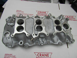 1967 3894382 Corvette 3x2 Gm Licensed Oval Intake Manifold 427 400 Tri Power