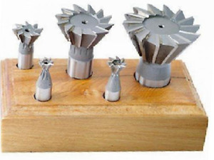 5 Piece Hss Dovetail Cutter Set 60 Degree Angle 3 8 1 7 8 Inch