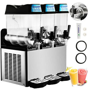 3 Tanks 36l Commercial Frozen Drink Slush Slushy Machine Margarita Slushy Juice