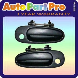 Ds36 For Toyota Corolla Prizm Set 2 Outside Door Handle Non Painted L R 93 97