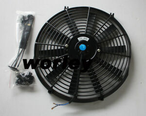 16 Inch 12v Electric Cooling Fan Thermo Fan Mounting Kits