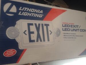Nib Lithonia Lighting Lhqm Led R M6 Led Exit Unit Combo