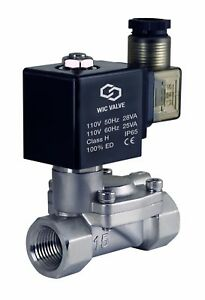 Slow Closing Water Hammering Resistant Electric Solenoid Valve Nc 110v Ac 1 Inch