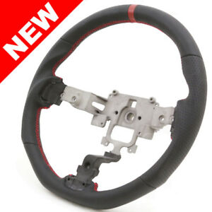 Handkraftd 05 14 Mazda Miata Nc Flat Bottom Steering Wheel Black W Red Stitch