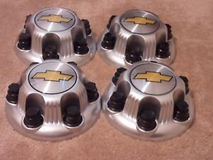 4 X Chevy Silverado 1500 Tahoe Replacement 6lugs Center Caps 5129c Silver