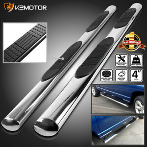 For 2000 2014 Chevy Tahoe Gmc Yukon 4dr 4 Oval Chrome Side Step Bars Boards