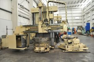 1993 48 Inch Giddings Lewis Cnc Vtl Vertical Boring Mill Chip Conveyor