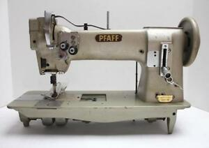 Pfaff 142 2 needle Feed 1 8 Gauge Split Bar Industrial Sewing Machine Head Only