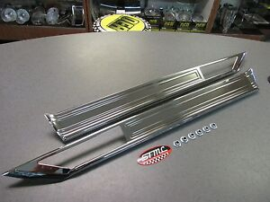 1970 1971 Cutlass Supreme Sx New Pair Of Rear Quarter Panel Body Side Moldings
