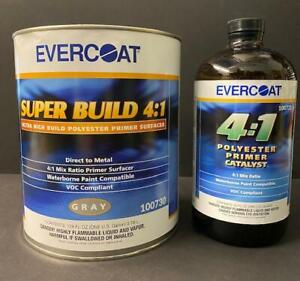 Evercoat Super Build Primer Kit 730 And 733 Catalyst 4 1 Ratio Gallon And Quart