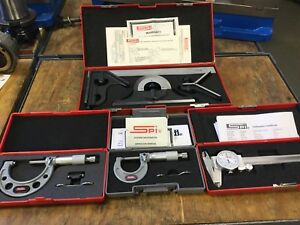 Spi Measurement Tool Set New Never Used cnc Tools With Case And Manual