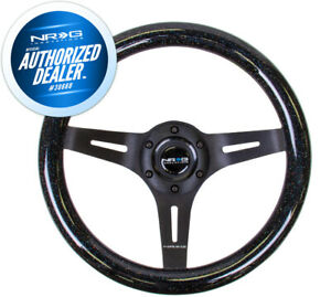 New Nrg Black Sparkled Wood Grain Steering Wheel 310mm Black Spokes St 310bsb Bk