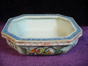 Antique Chinesse 19 20c Famille Rose Porcelain Planter Signed