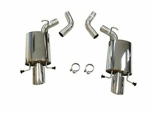 Obx S s Axle Back Exhaust System For 2009 To 2014 Cadillac Cts v 6 2l At Mt