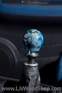 Ljs Wood Shop Custom Shift Knob M12x1 25 Carrara Alumilite Resin