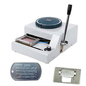 52 Characters Manual Steel Dog Id Card Tag Embosser Embossing Stamping Machine