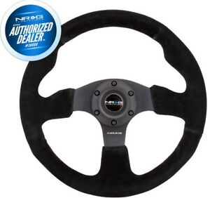 New Nrg Innovations Race Series Steering Wheel Black Suede Black Spokes Rst 012s