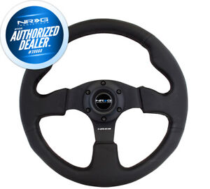 New Nrg Race Style Steering Wheel Black Leather With Black Stitch 320mm Rst 012r