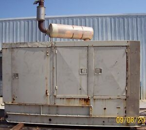 100kw Delco Diesel Low Hours Standby Generator With Detroit Engine
