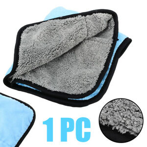 1pcs 45 38cm Car Microfiber Soft Cleaning Cloth Drying Waxing Polish Towel Grey