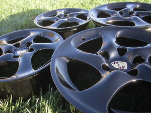 18 Porsche 911 996 Turbo Wheels Rims Oem Hollow C4s Black