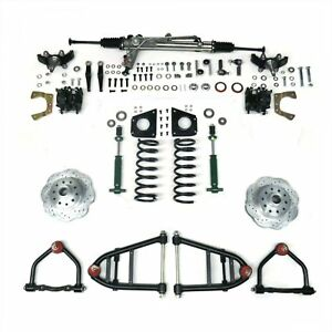 Mustang Ii Ifs Kit With Power Steering Rack For 49 62 Ford Car Front Suspension