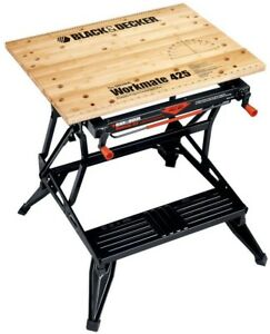 Folding Portable Workbench Clamping Vise Tool Black decker Workmate 425 30in