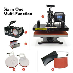 Heat Press Machine Design 6 In 1 For T Shirt mug cap plate phone Cases Etc New