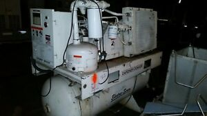 Gardner Denver Ebergh 35 Hp Tank Mount Air Compressor