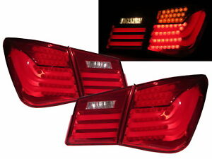 Cruze J300 2008 2013 Sedan Led Bmw Style Tail Rear Light Red Clear For Holden