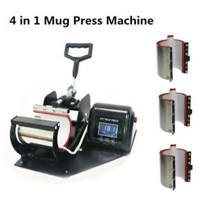 55 63 77mm 12oz 4 In1 Heat Press Transfer Sublimation Machine Fr Cup Coffee Mug