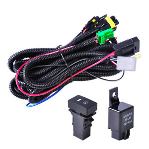 H11 Fog Light Wiring Harness Led Indicator Switch Relay For Ford Focus Nissan