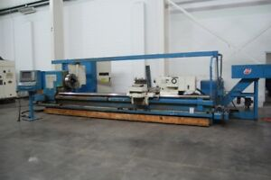 1997 40 X 168 Lodge Shipley Pft40 Big Cnc Lathe 650 Rpm With Fanuc 18tb