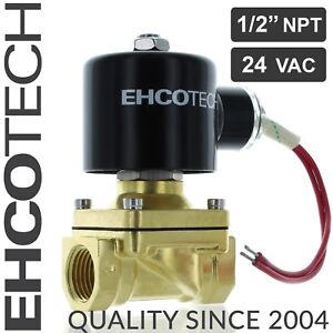 1 2 Npt 24v Ac Brass Electric Solenoid Valve 24 volt Ac Water Air Gas Viton Nc