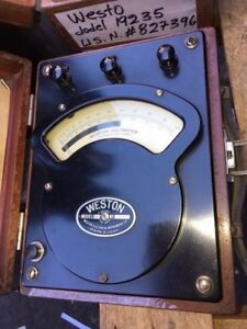 Weston Model 341 Dated 1920 Alternating And Direct Voltmeter Used As is