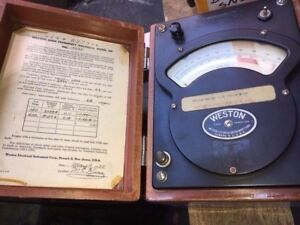 Weston Model 341 Antique Dated 1955 Voltmeter Used As Is Collector Item