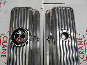 69 77 Corvette Camaro New Polsihed Lt1 Z28 Aluminum Valve Covers With Oil Cap