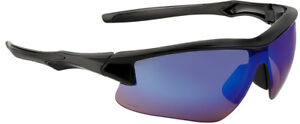 Uvex Acadia Safety Glasses With Black Frame And Blue Mirror Lenses Ansi Z87