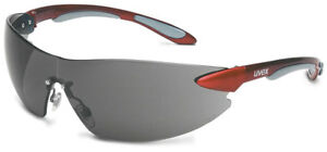 Uvex Ignite Safety Glasses With Metallic Red Frame And Gray Lens Ansi Z87
