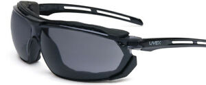 Uvex Tirade Safety Glasses goggle With Black Frame And Gray Anti fog Lens