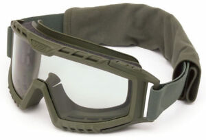 Uvex Xmf Tactical Goggle With Foliage Green Frame And Clear Ds Lens