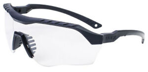 Uvex Xmf Tactical Safety Glasses With Black Frame And Clear Ds Lens