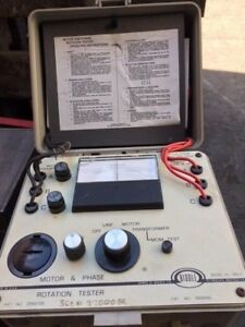 James G Biddle 560060 Motor And Phase Rotation Tester Used