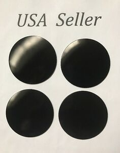 4pcs Universal Black 65mm 2 9 16 Wheel Center Cap Sticker Cadillac Ford Toyota