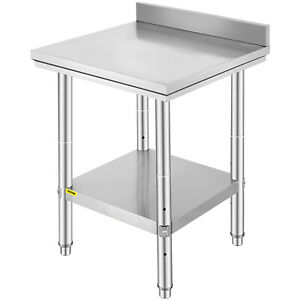 24 X 24 Stainless Steel Work Prep Table Commercial Kitchen Res