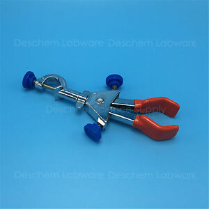 Swivel Flask Clamp test Tube condenser Lab Holder two adjustable Clips