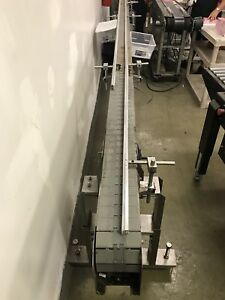 Stainless Steel Plastic Chain Conveyor 4 Wide X 16 Long