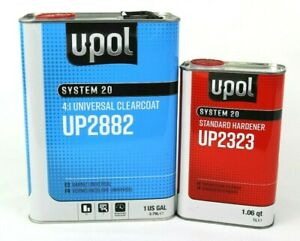U pol Universal Urethane Clear Coat Gallon Kit Up2882 With Up2323 Std Hardner